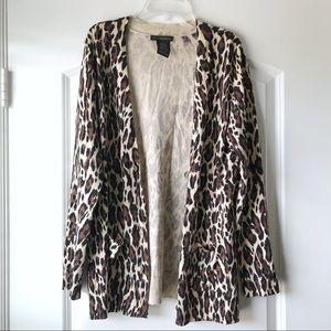 Grace Elements Leopard Print Cardigan M